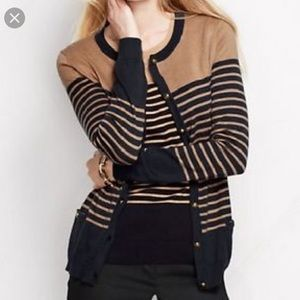 Land's End Cardigan Gold Buttons XL 18
